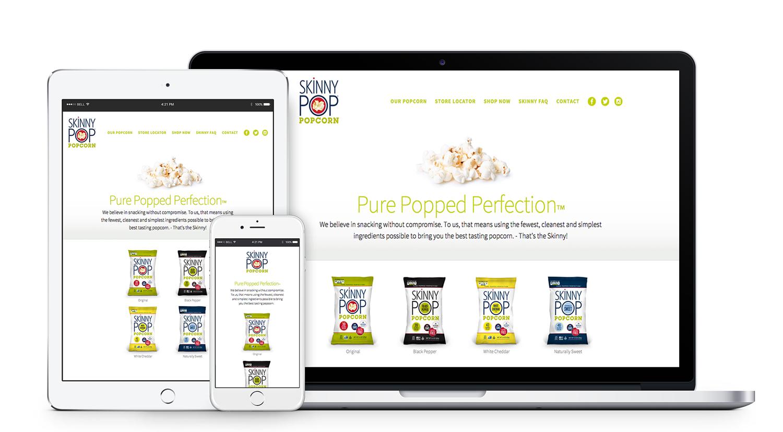 SkinnyPop Popcorn Website